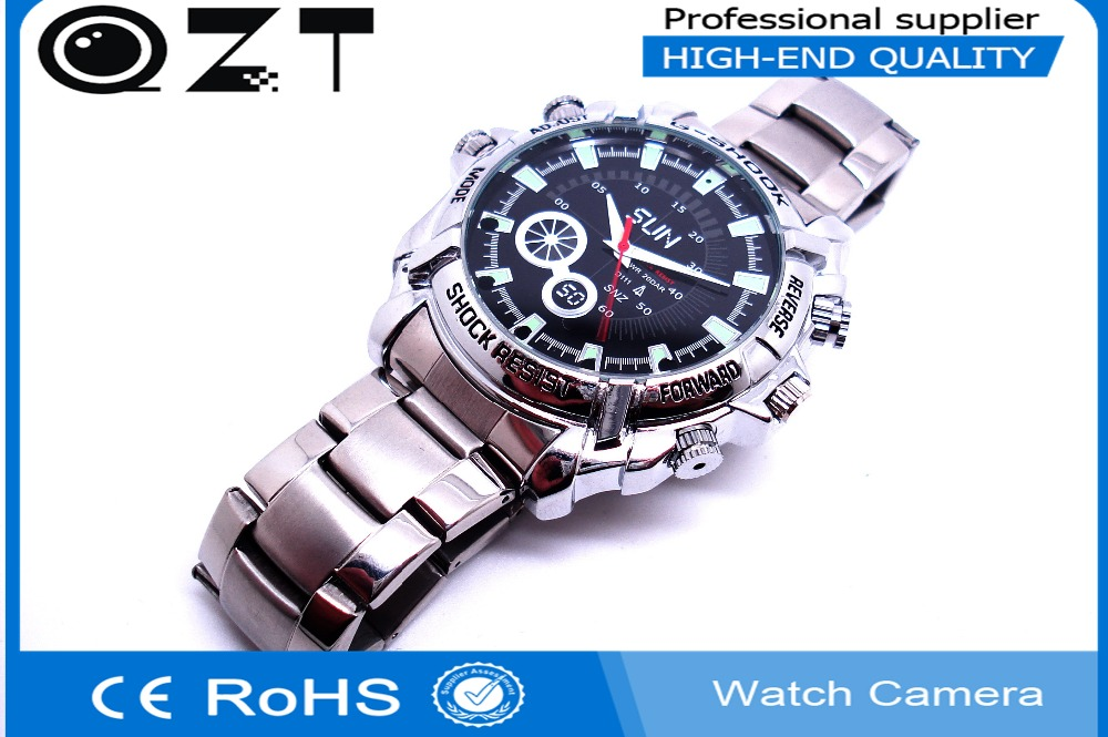 QZT hot sale Ultra thin HD 1080P and 720p spy watch camera Digital watch recorder Pc camera 8GB