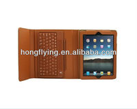 Hot selling,Accforcity Ipad 2 and 3 Case with Built-in Bluetooth Keyboard Leather Cover with Keypad, case for iPad 2/3/4