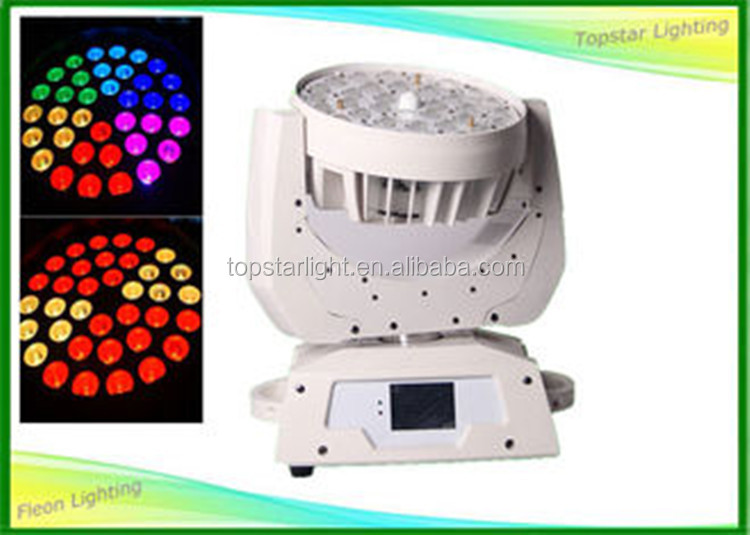 Christmas promotion White Body Led Zoom Moving Head Light RGBW 36x10w/12w/15w/18w RGBWA Led Wash Moving Heads