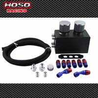 Hoso Racing Aluminum Oil Catch Tank 10AN Fittings Filters For Honda Civic For Acura Integra B Series Oil Catch Can Breather Kit