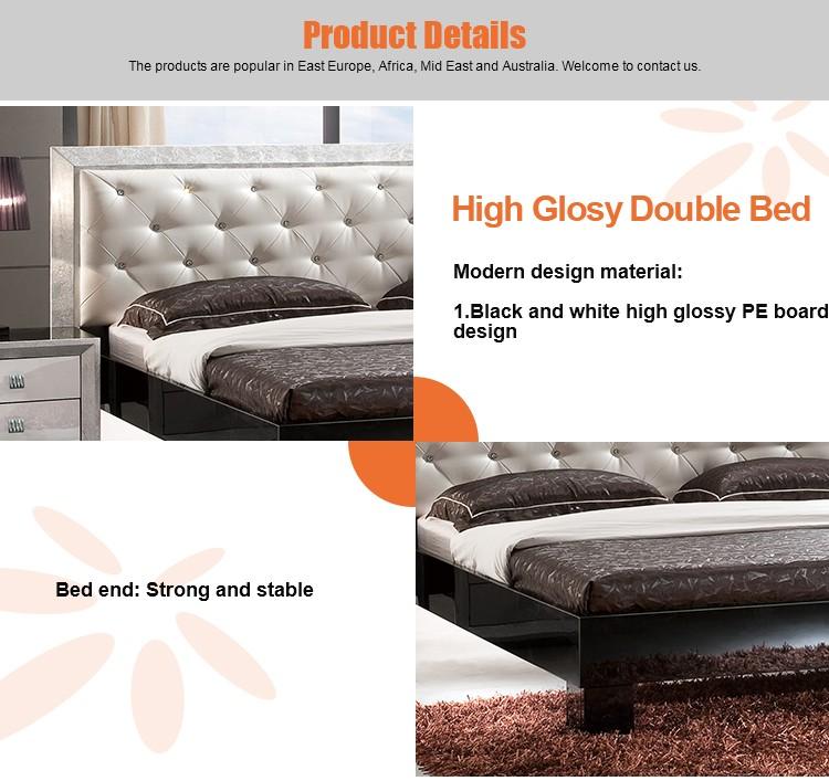 Modern foshan golden beds bedroom furniture new model Bed designs 2016 in pakistan with price