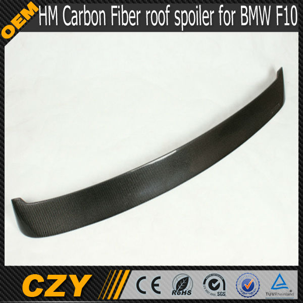 Carbon fiber HM Style Rear Roof Spoiler for BMW 5 Series F10