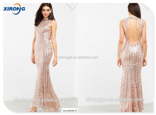 fashion design Gown Featuring Sequins ladies dress night gown for woman custom maxi dress