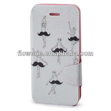 FL2891 2013 Guangzhou new arrival ballet dancer wallet leather case for iphone 5s