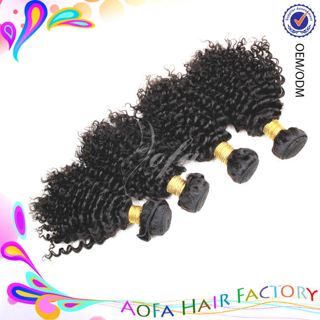 Wholesale remy tangle free afro kinky human hair weave