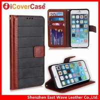 Flip Wallet Vintage Matte Crazy Horse PU Leather Case for Apple iPhone 4 4s 5 5s SE 6 6s Plus Cover