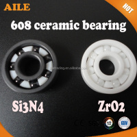 High Speed ZRO2 And Si3N4 Full Ceramic Bearing 608 For Skateboard And Bike