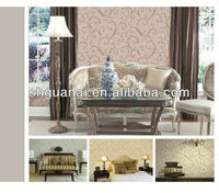 2013 the latest wallpaper designs printed indoor non-woven wall paper
