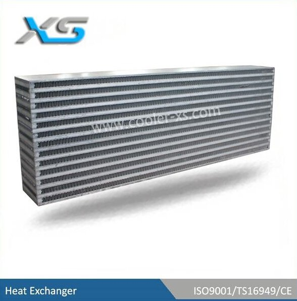 bar and plate aluminum radiator core