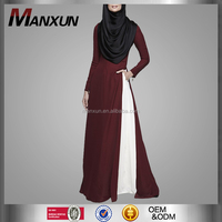 2016 New Arrival Unique Design Red Abaya For Muslim Women Chic Fashionable Islamic Clothing