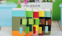 Tricolor flip wallet case for 5c for apple iphone accessory