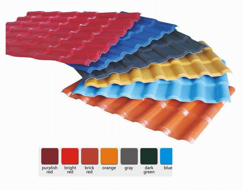 roofing material asa pvc synthetic resin roof tile/lightweight roof tiles/Environmental protection tile