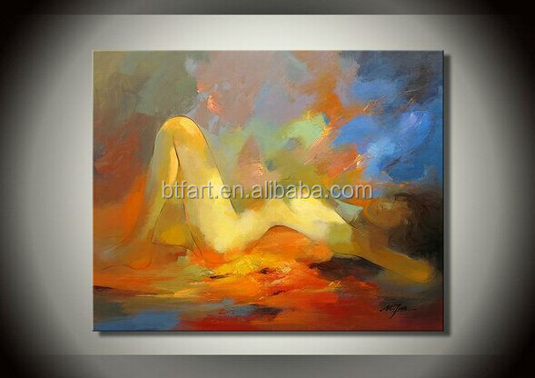 Handpainted Indian Nude Painting Oil Painting For Livingroom Oil Painting With Frames Stretched Home Decoration