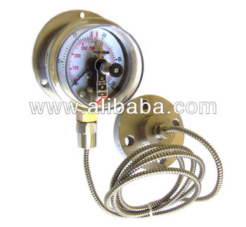 Electrical Contact Pressure Gauges with Diaphragm with Capillary