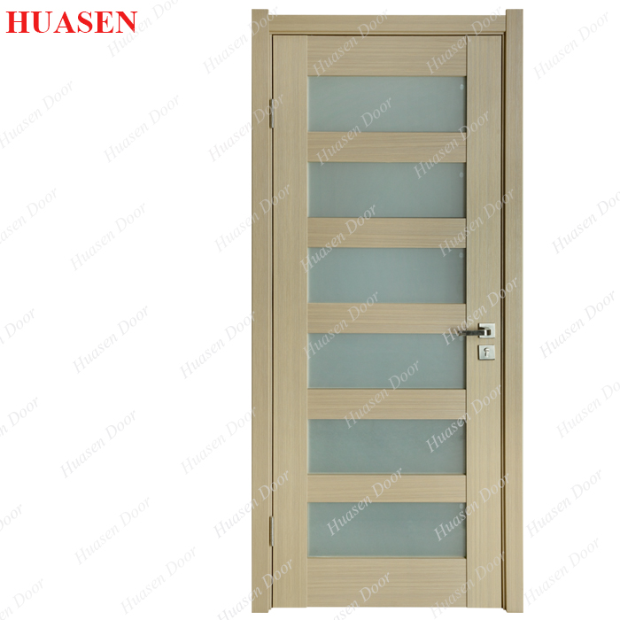 Frosted wood glass bathroom door design buy wood glass for Office glass door entrance designs