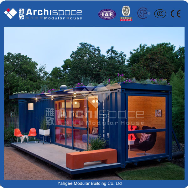 luxury container house with steel house prefabricated
