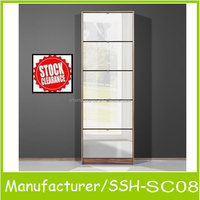 quality big style wooden shoe cabinet with mirror