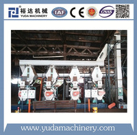DIN PLUS peanut, rice husk, straw, sawdust pellet production line plant, certified factory biomass wood pellet machine