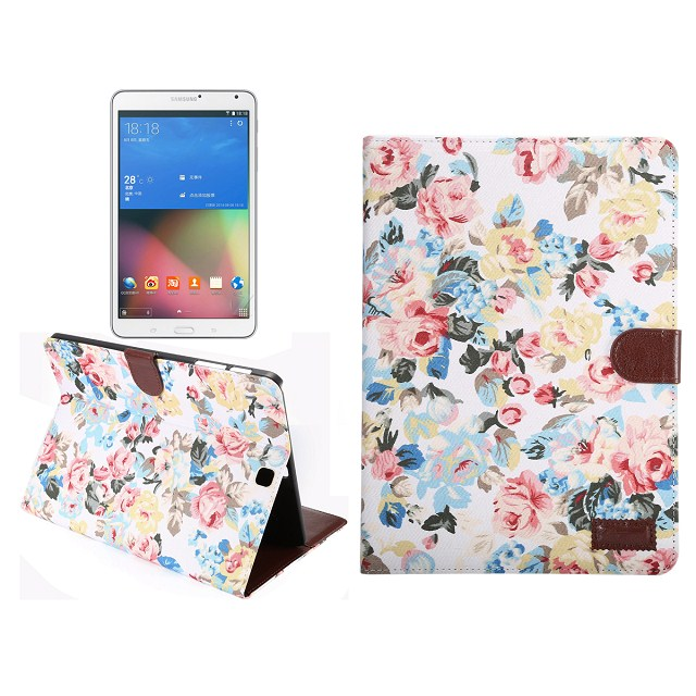 For samsung tab s2 wallet cover, Flower Pattern leather stand Case for Samsung galaxy Tab S2 9.7""