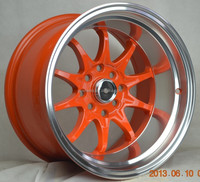 deep dish wheels 4x100 sport rim 15 inch 15x9 replica alloy wheels 4x100