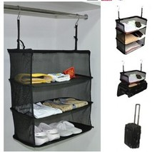 Non-woven Travel Luggage Storage Travel Suitcase Hanging Closet Organizer