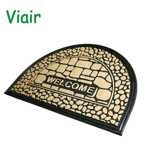 top quality hot selling OEM customized high quality fancy Rubber door mat welcome mat