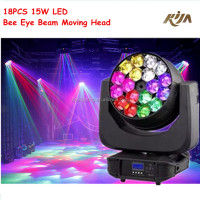 Bee Eyes Full Color Led Beam Moving Head Light 18pcs Big Eye Led