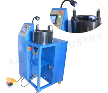 Portable automatic crimping machine for producing air springs W164