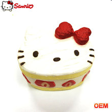 Hot sell fake cake PU foam squeeze hello kitty food simulate cake design for decoration