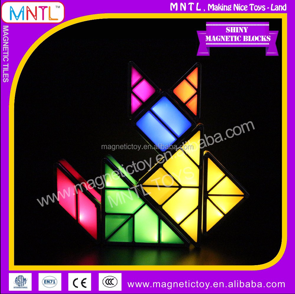 MNTL Shiny Magnetic Blocks Electronic Tangram 3D DIY Plastic Toy