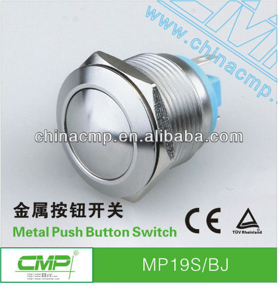 factory wholesale price export CMP brand 19mm MP19S/BJ stainless steel push button switch