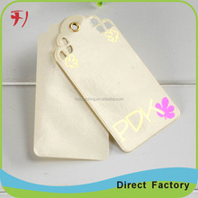 Customized high-end paper hanging tag for car accessories