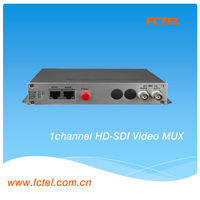 Video mux 1 channel 3G hd-sdi video to fiber converter video transmitter and receiver