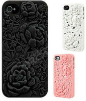 High Quality 3D Rose Design Silicon Case For IPhone 5S Laudtec