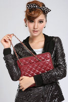 PU leather quilted Ladies Zipper Shoulder Bag Case for iPad 4/air/mini Women Tablet PC Case women's travel tote