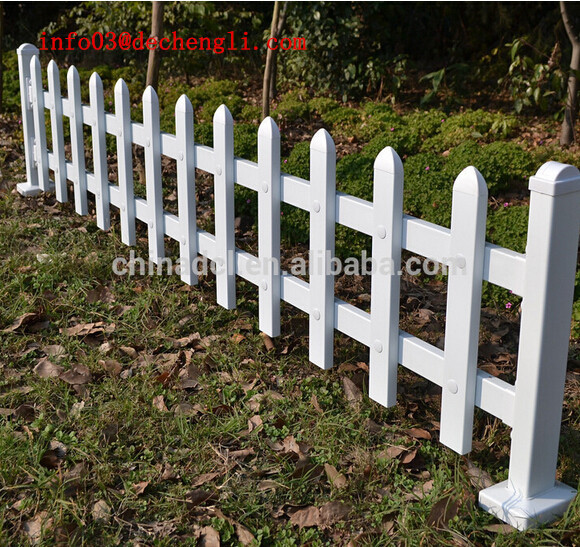 Anping facotry garden fence/temporary fence/PVC decorative garden fence