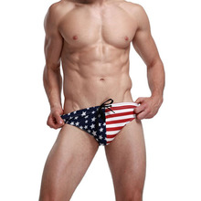 American Flag Mens Bikini Swimwear Swimming Trunks Briefs Wholesale