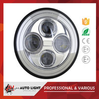 Best Price 40W Car Headlight Off Road 7inch Led Headlight Hi/Lo Beam, Black/Chrome Color Available Led 7 Inch Off Road Light