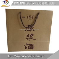 High quality cheap custom Kraft Paper Wine Bags With Logo