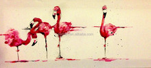 Simple and Beautiful Design Hot Selling Handmade Animal Red-crowned Cranes Oil Painting on Canvas for Office Wall Decoration