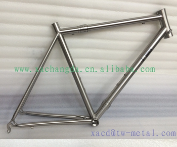 titanium road bike frame with integrated head tube titanium road bicycle frame with coupler custom titanium road bike frame