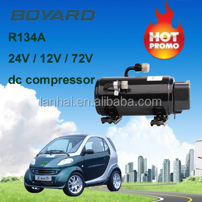 rv-caravan accessories <strong>R134</strong> boyang12/24 volt ac compressor HB075Z24 for mini air conditioner for cars 12v/24V
