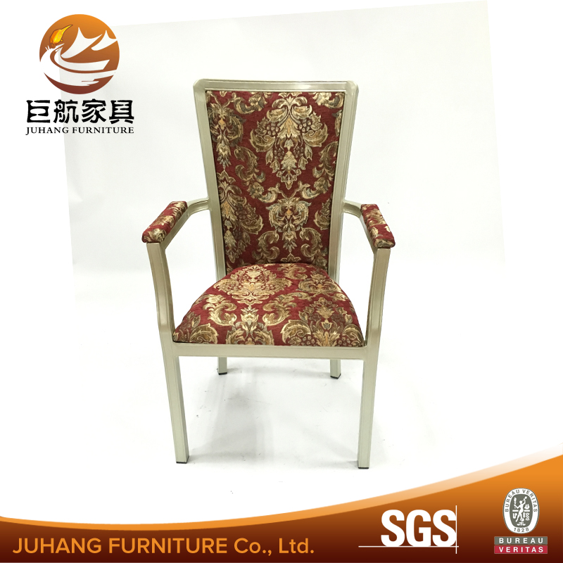 aluminium restaurant upholstered dining chairs with arms