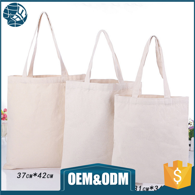 OEM Eco Friendly Silk Printing Fashion Canvas Cotton Bag with Handle