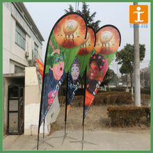 outdoor promotional teardrop flag with pole