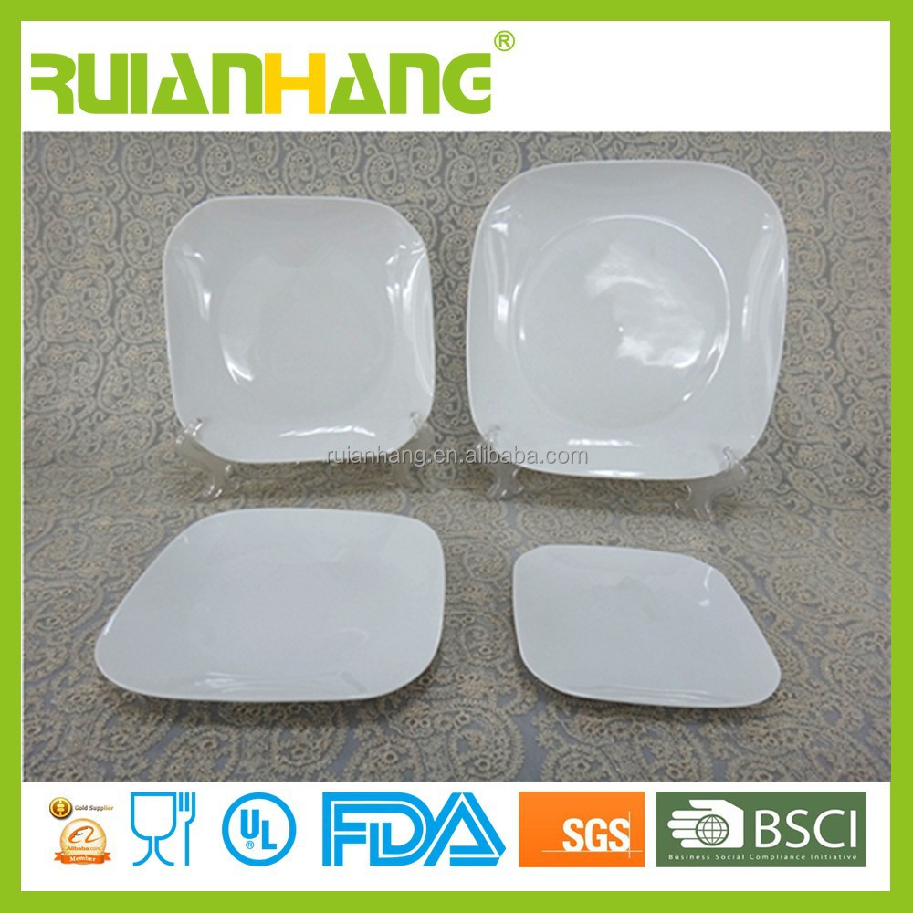 Porcelain white open stock plates, dinnerware for daily use