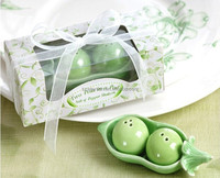 Two Peas in a Pod Ceramic Salt and Pepper Shakers wedding favors and gifts