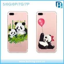 Cute Panda Animal Nature Design TPU Silicone Rubber Clear Case Cover for Apple iPhone 5 6 7plus