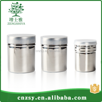 Hot sale with nice design stainless steel cruet /stainless steel spice jar