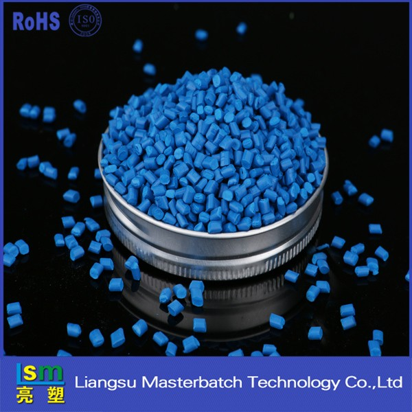 high density polyethylene blue masterbatch pellets for all various bags